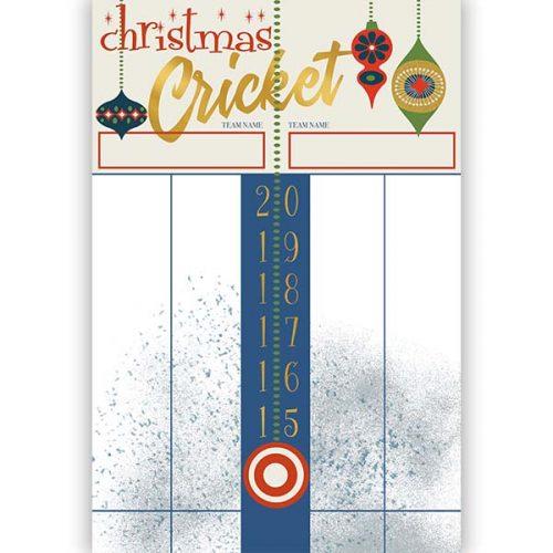 retro ornament cricket game dry erase board