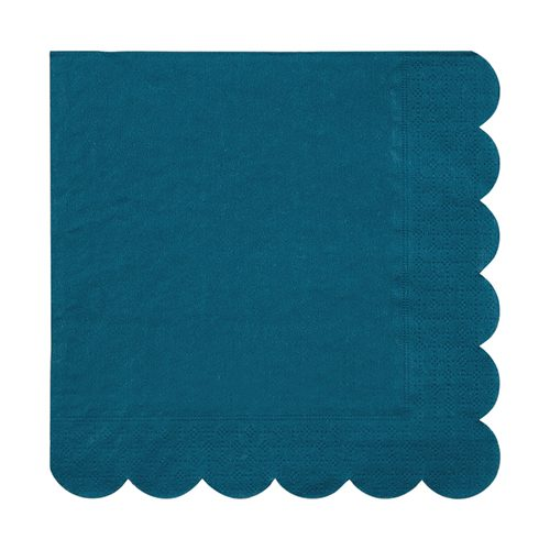 Dark Teal paper napkin