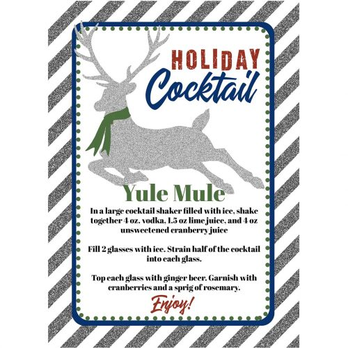 Holiday Cocktail Bar Sign