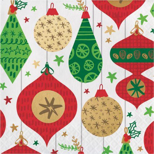 retro ornament luncheon napkin