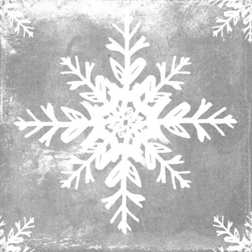 Weathered Snowflake beverage napkin