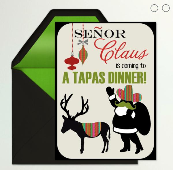 latin christmas dinner invitation