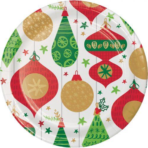 retro ornament paper plate