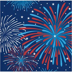 4th of july fireworks beverage napkin