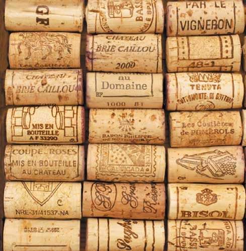 wine cork beverage napkin