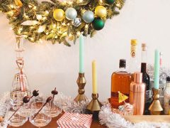 Mid Century Modern Holiday Entertaining