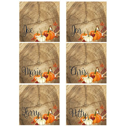 rustic thanksgiving name place cards