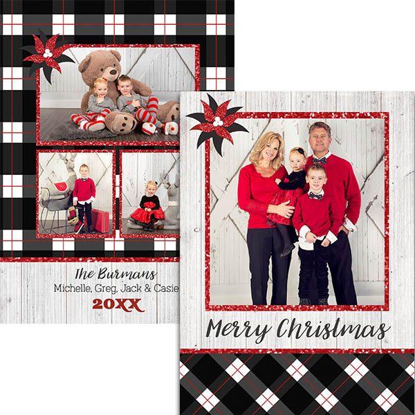 black plaid holiday greetings