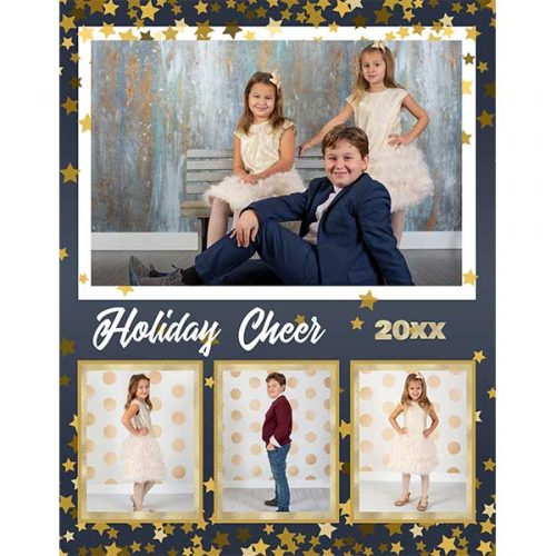 glitter star holiday photo collage
