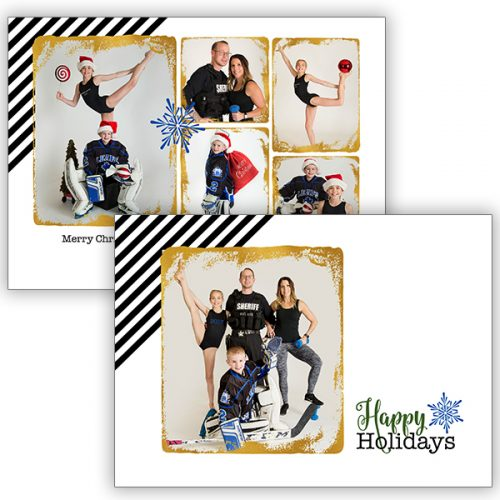 clean modern holiday greeting card