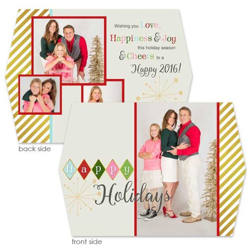 retro diamond holiday greeting card
