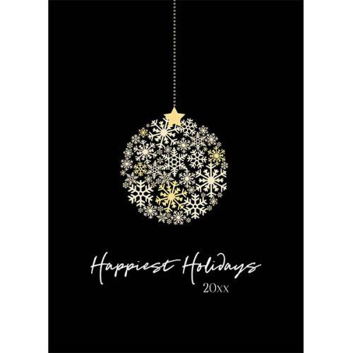 circle snowflake ornament greeting card