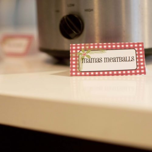 Holiday Food Tags and Placecards
