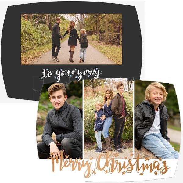 merry christmas foil greeting card