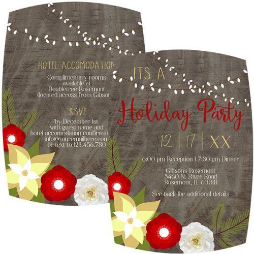 rustic holiday dinner invitation