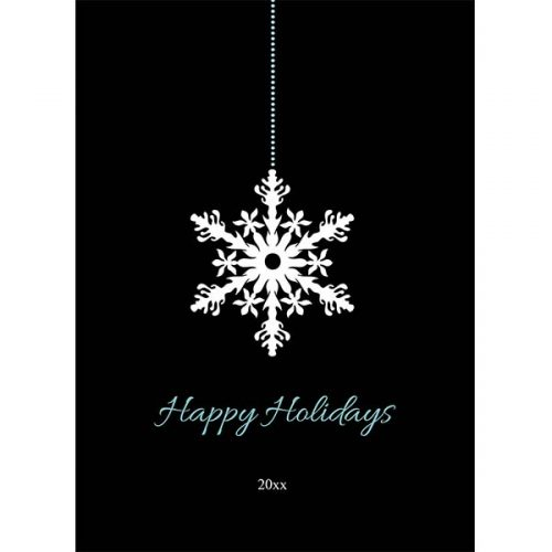snowflake ornament holiday card