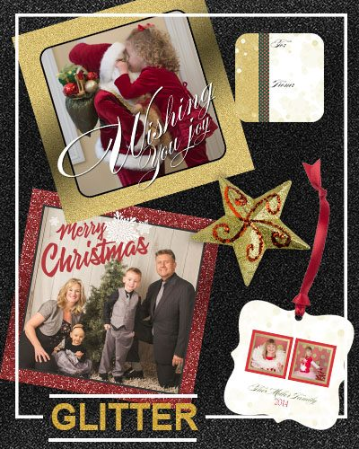 Glitz, Glitter & Glam Holiday Cards