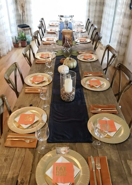 rustic thanksgiving table setting