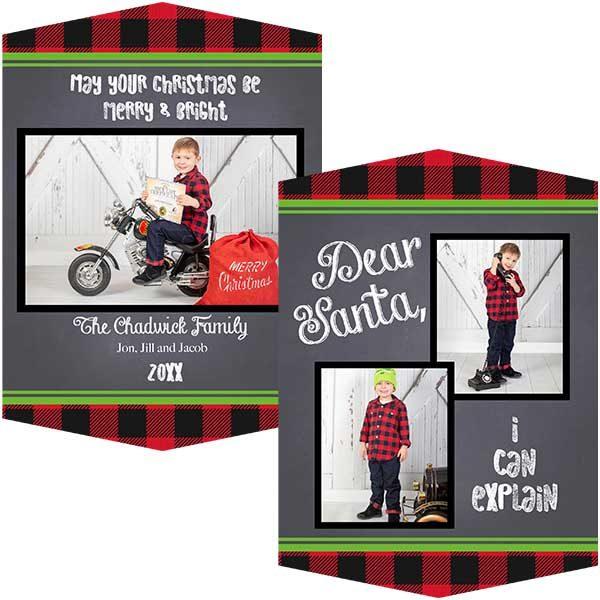 dear santa photo greeting card