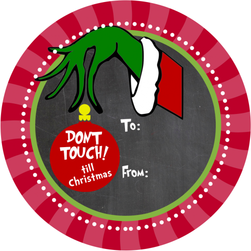 grinch gift sticker