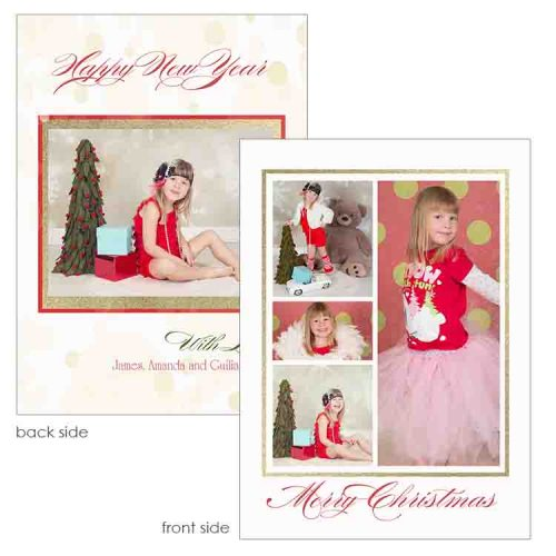 glitter holiday greeting card