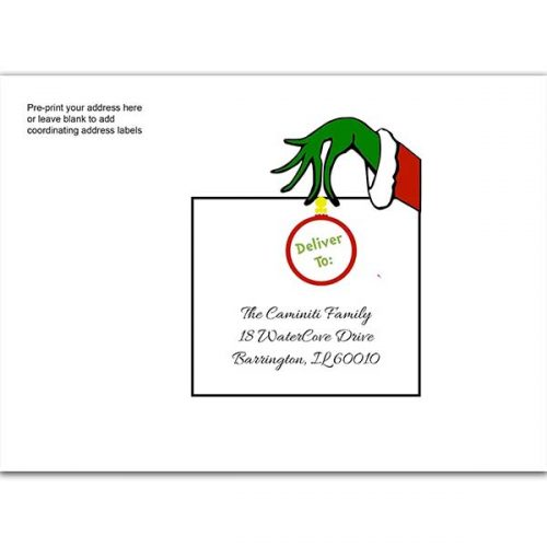 Grinch printed envelope
