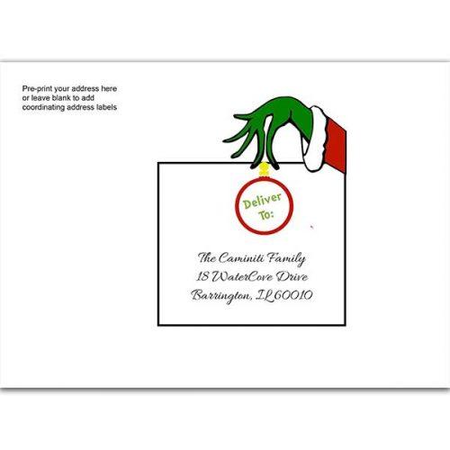 Grinch printed envelope