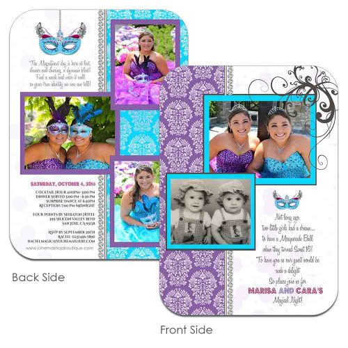 quincenera masquerade party invitations