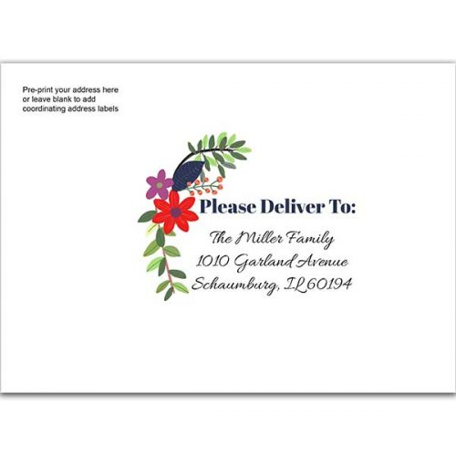 floral bunch printed envelope