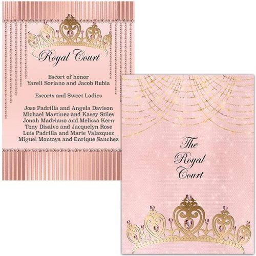 quinceanera court of honor card