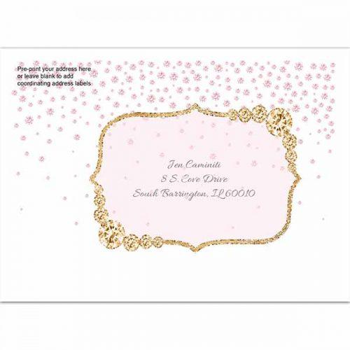 blush and gold printed envelope