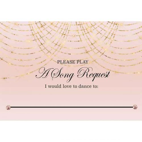 Blush royal ball theme song choice card
