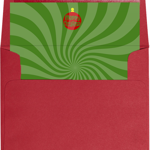 green swirl holiday envelope liner