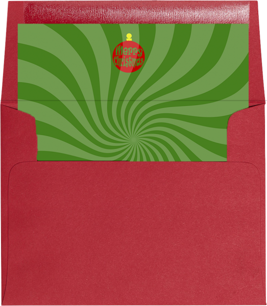 green swirl holiday envelope liner