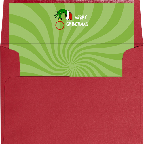 grinch envelope liner