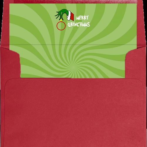 grinch envelope liner