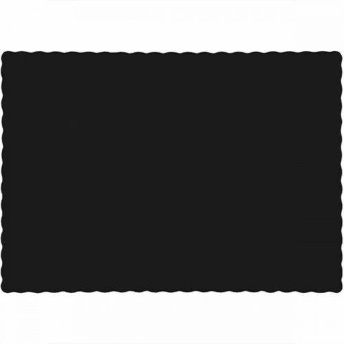 black paper placemat