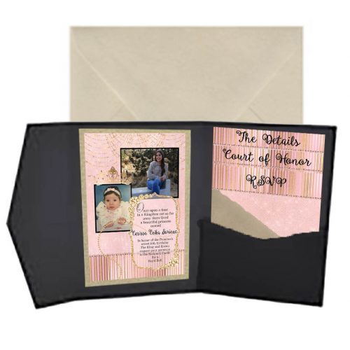 quinceanera pocket invitation