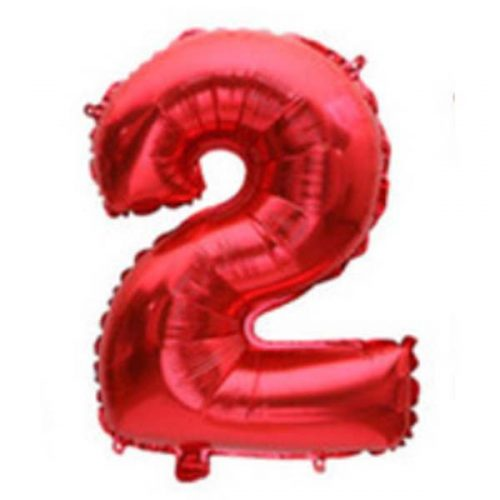 "red number 2 32"" mylar balloon"