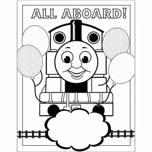 thomas the train coloring book