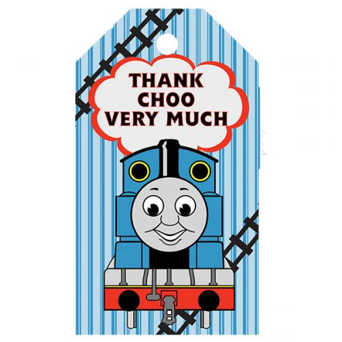 thomas the train thank you tag