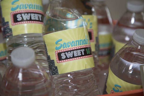 broadway water bottle labels