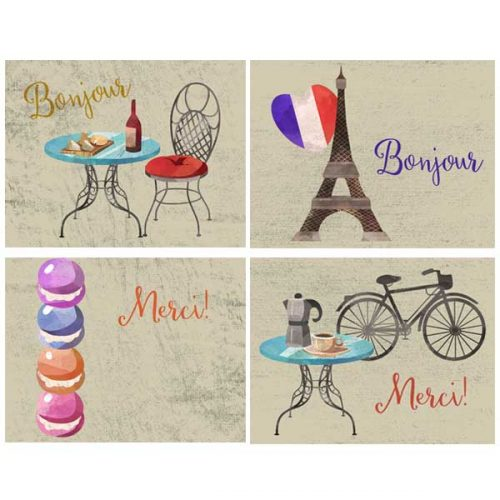 paris vacation notecards