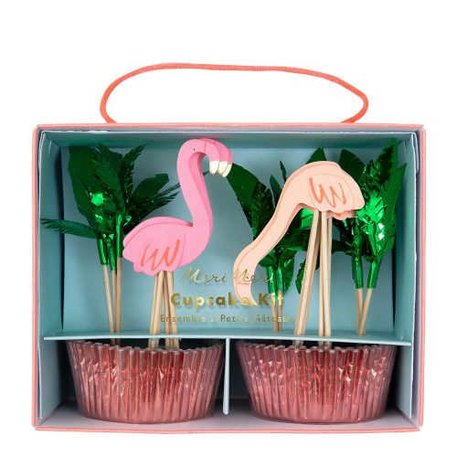 flamingo cupcake topper