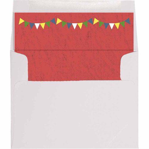 flag banner envelope liner