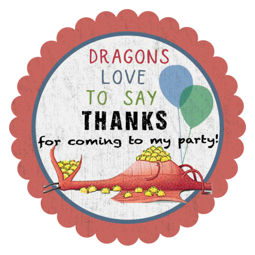 dragons love tacos thank you sticker