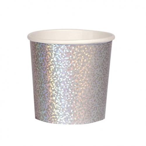 silver sparkle tumbler cup