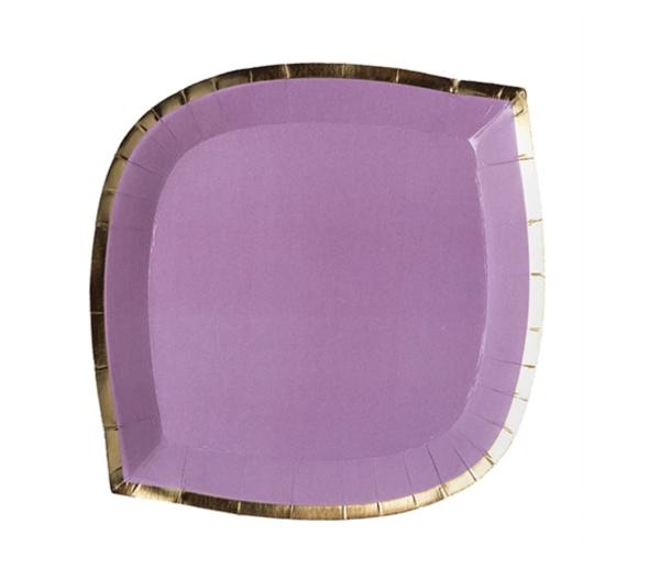 lilac posh die cut plate