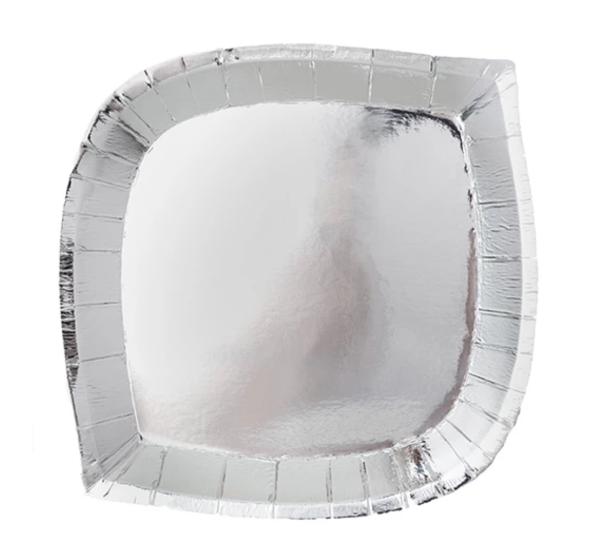 jollity and company silver fox posh plates