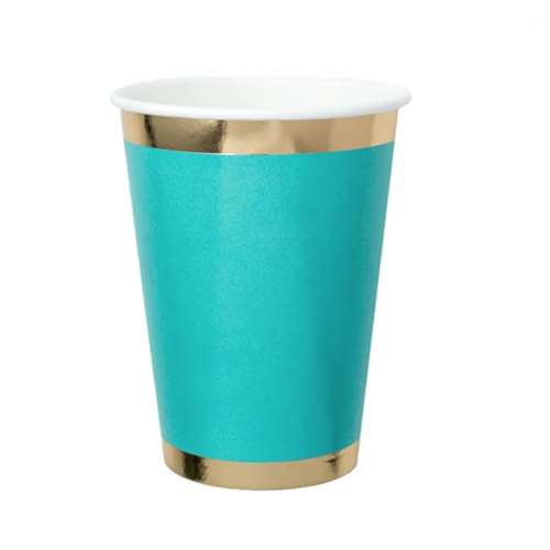 teal paper cup
